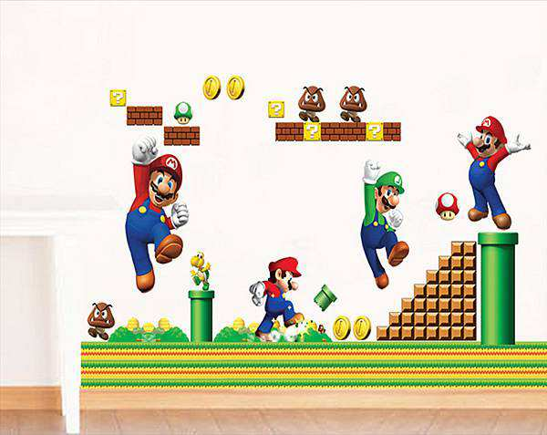 Super Mario Kids Nursery Wall Decals Wall Stickers 1