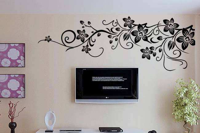 Black Wall Decals black flowers wall decals ~ color the walls of your house
