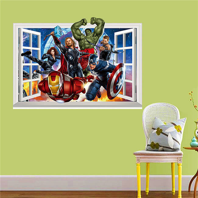 Avengers Wall Decals Target  Color The Walls Of Your House - Superhero wall decals target