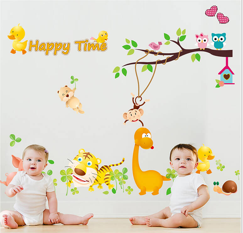 Happy time Duck wall decal