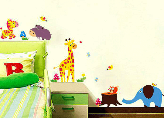 jungle zoo wall decal